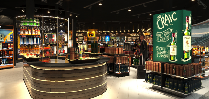 Terminal 2 Dublin Airport Duty Free Retail Refit completed by Glenbeigh Construction.